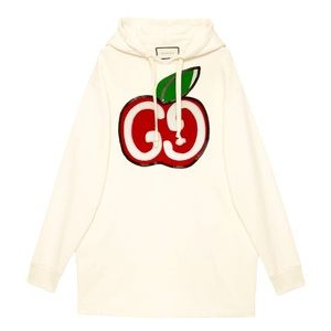 Brand New Gucci Hooded Dress with GG Apple Print